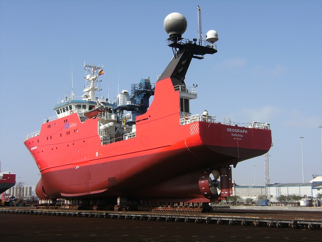 Geograph, vessel for detailed mapping of seabed.